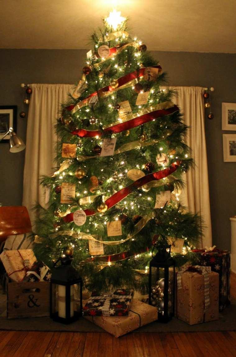 Decoraci n de rboles de navidad para el interior - Luces arbol de navidad ...
