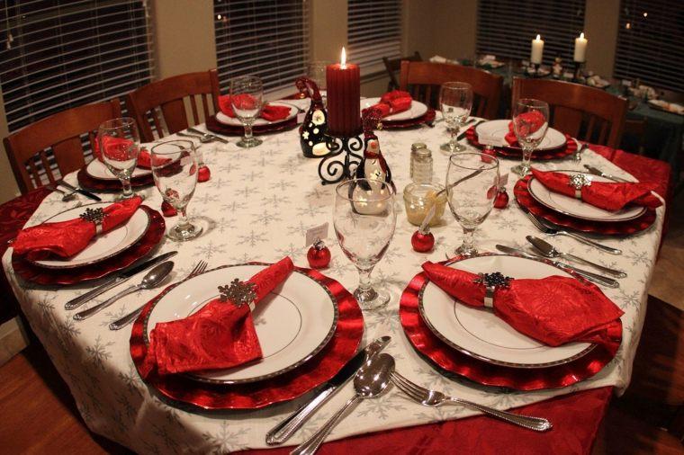 decoraciones para la navidad mesa