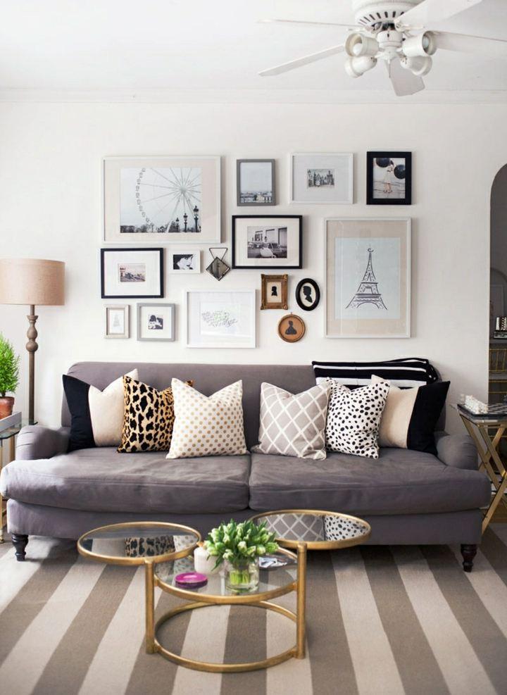 decorado pared sofa especiale imagenes