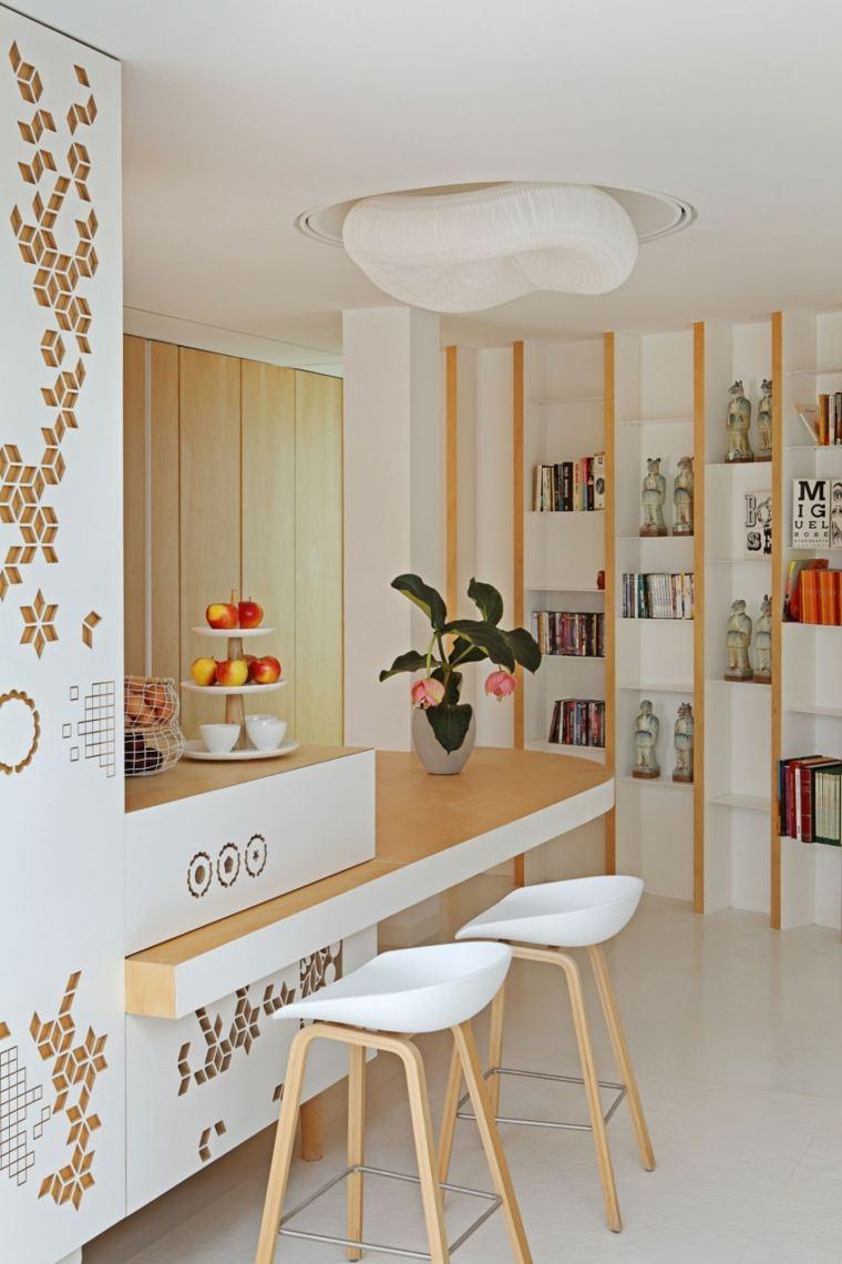 decorar apartamento pequeno estanterias pared josep rua spatial designer ideas