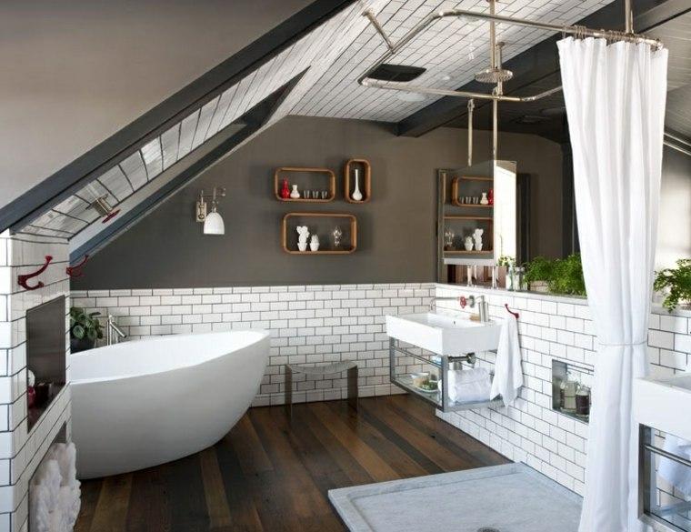 decorar buhardilla muebles baño