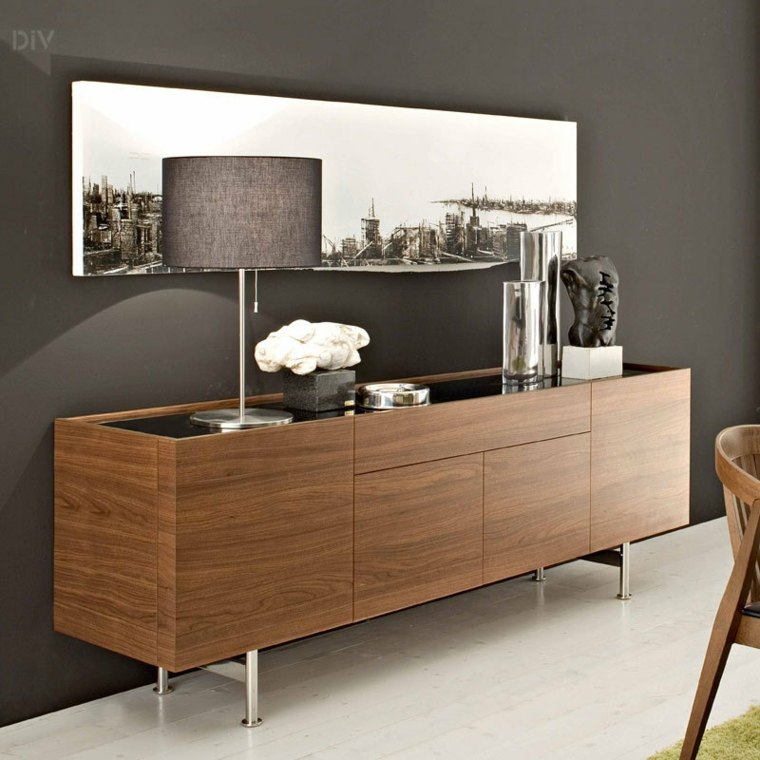 Decorar aparador para un interior moderno for Mueble buffet moderno