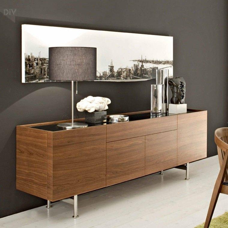 Decorar aparador para un interior moderno for Decorar paredes con cuadros y espejos