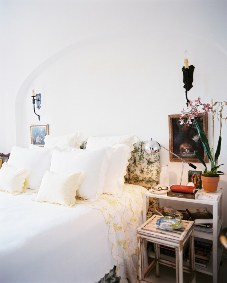 decorar dormitorio blanco bohemio