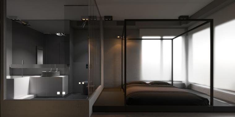 decorar dormitorio principal diseno minimalista cama dosel ideas