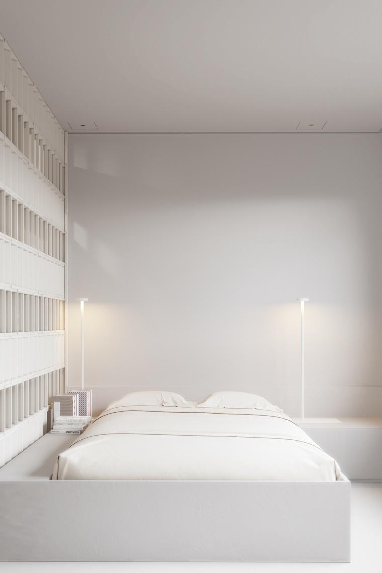 decorar dormitorio principal diseno minimalista igor sirtov blanco puro ideas