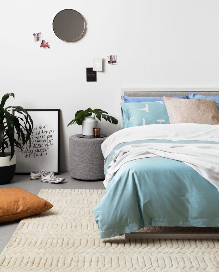 décoration de la chambre principale minimaliste design idées de plantes