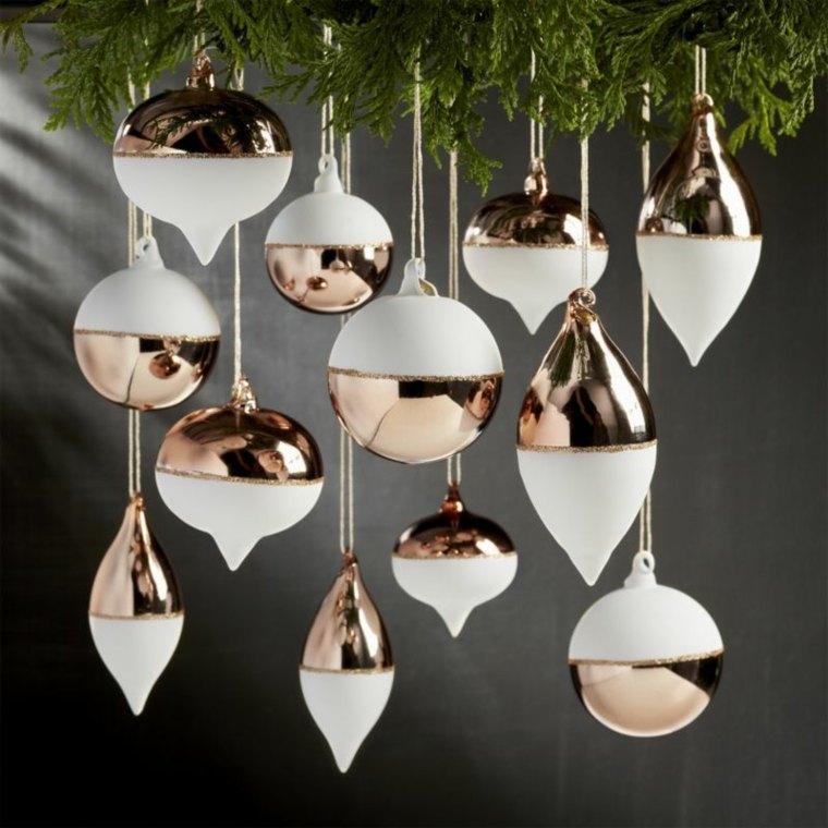 decorar en navidad interior casa cobre