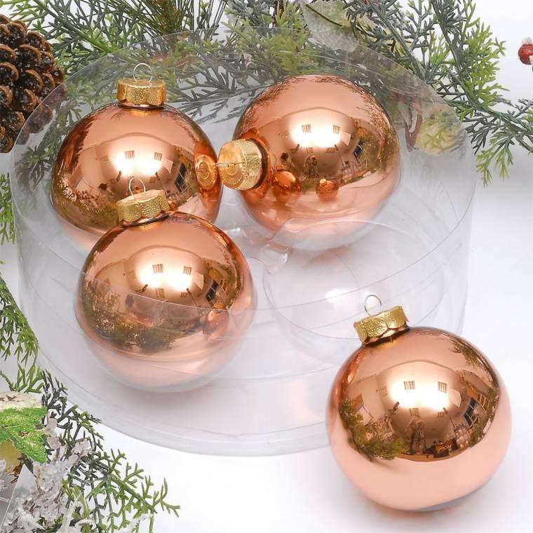 decorar en navidad el interior con cobre