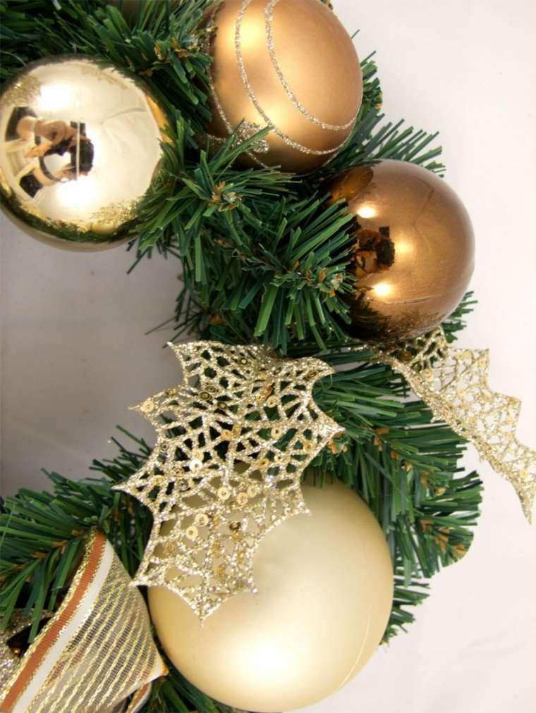 decorar en navidad salón cobre