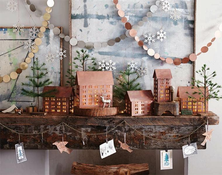 decorar en navidad salón