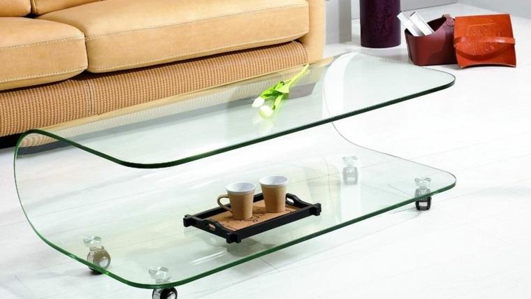decorar mesa de centro cristal
