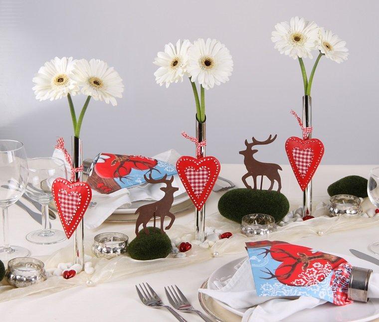 decorar mesa navidad opciones cena ideas