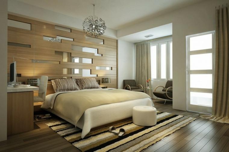decorar paredes diseño combinacion espejos lamparas