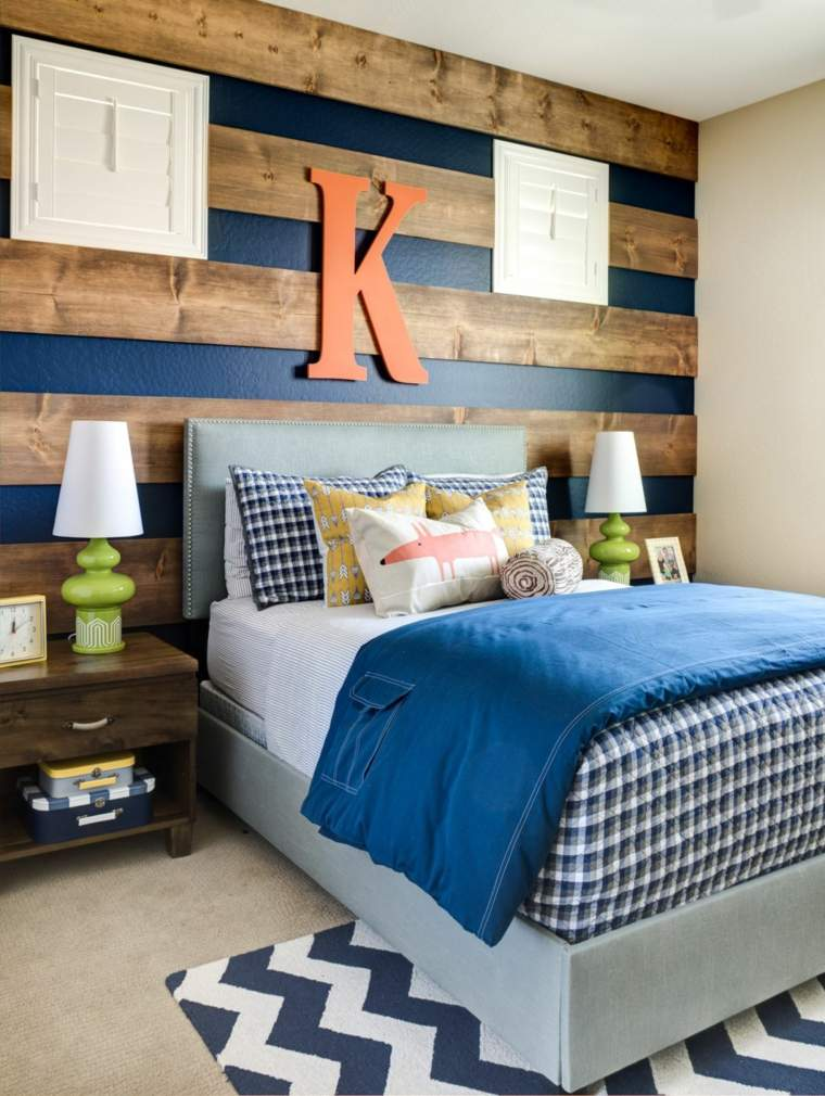 decorar paredes diseño maderas letras