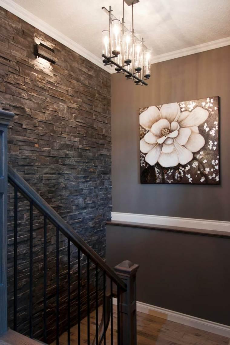 decorar paredes diseño conceptos piedras
