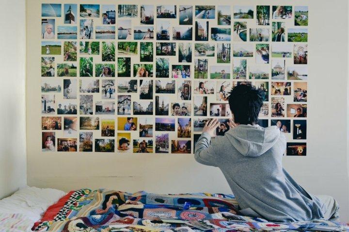 decorar paredes fotos collage especiales muebles