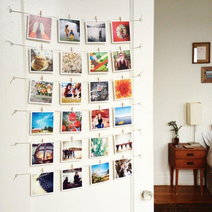 decorar paredes fotos cuerdas curdas - Decorar Paredes Con Fotos