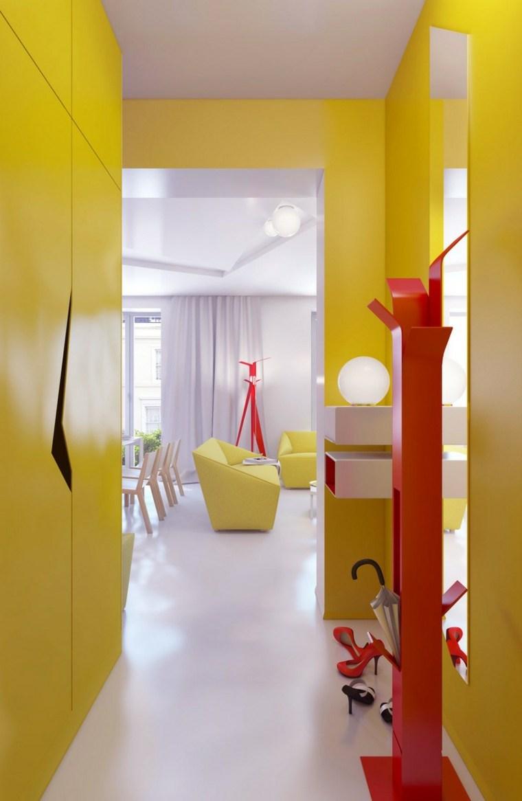 decorar pasillos largos y estrechos amarillo
