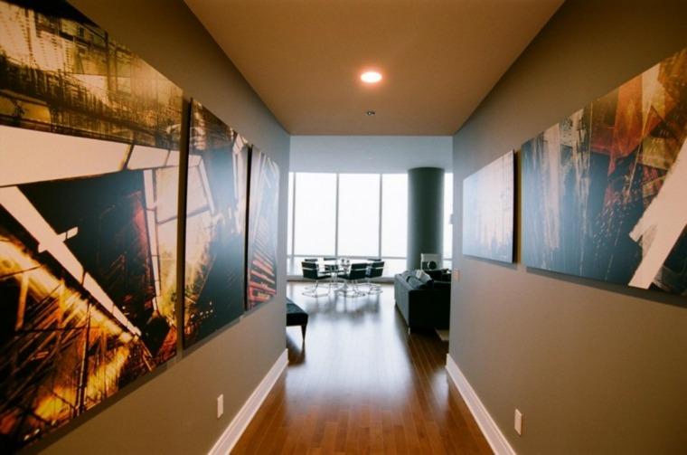 Decorar pasillos largos y estrechos en el interior - Cuadros para decorar pasillos ...