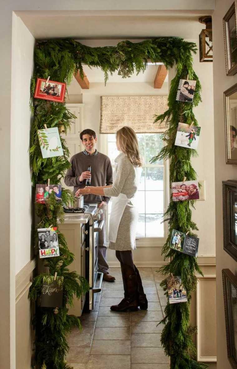 decorar puerta navidad opciones ramas ideas