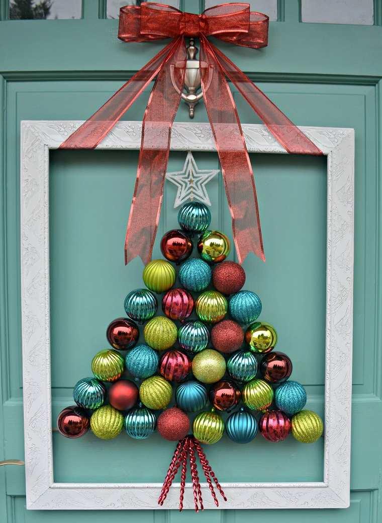 decorar puertas navidad diseno adornos arbol navidad ideas