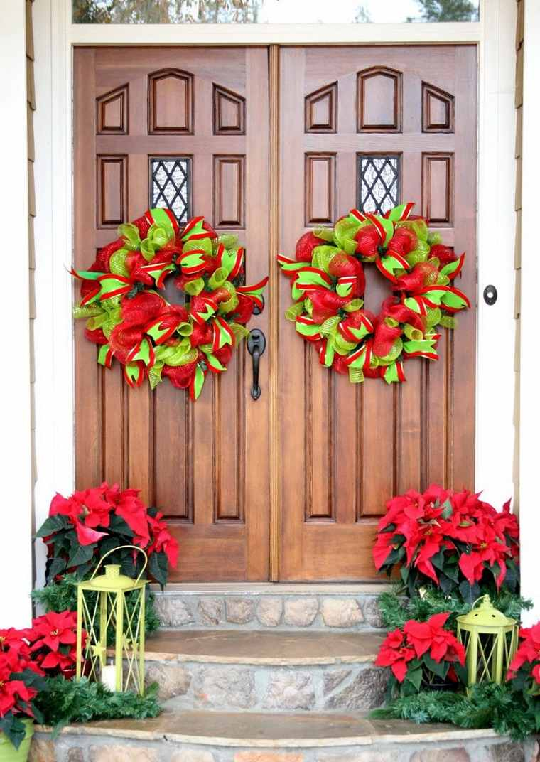 decorar puertas navidad diseno adornos ideas