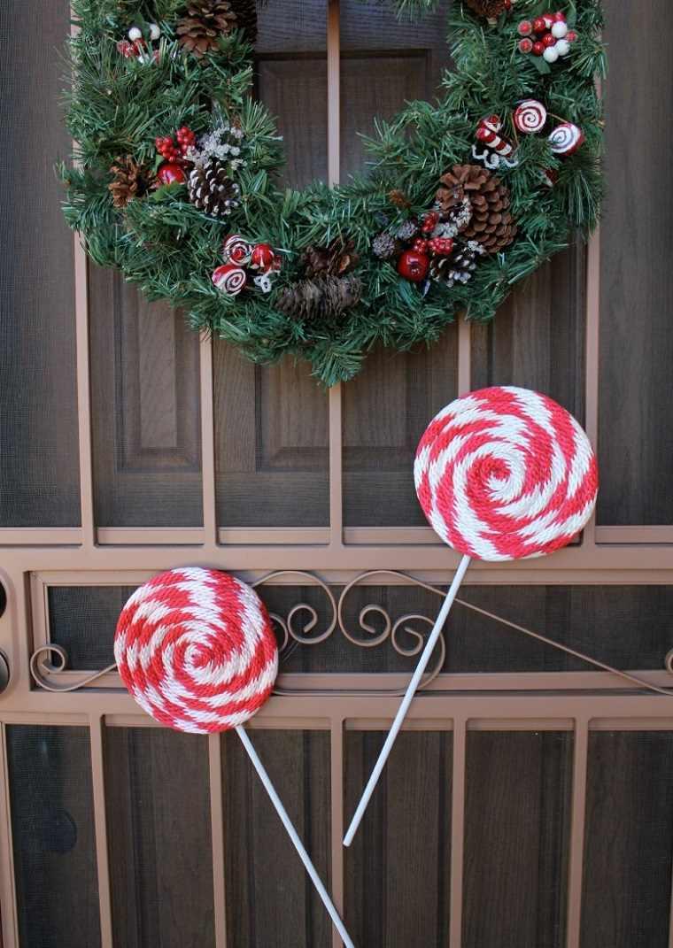 decorar puertas navidad diseno chupa chups grandes ideas