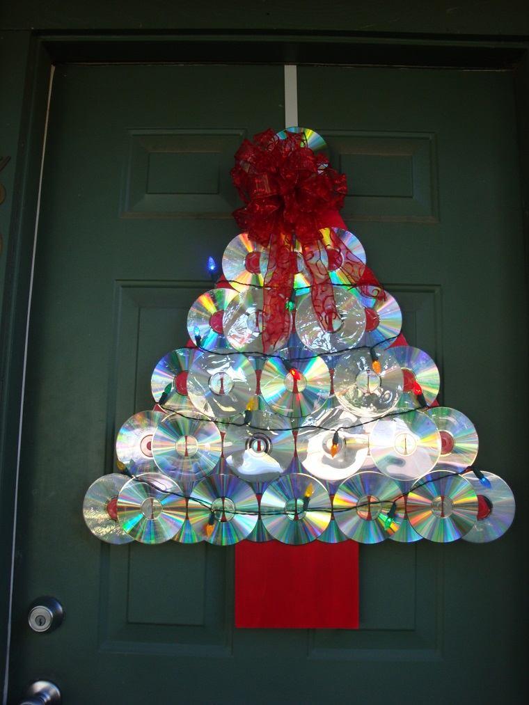 decorar puertas navidad diseno manualidades ideas