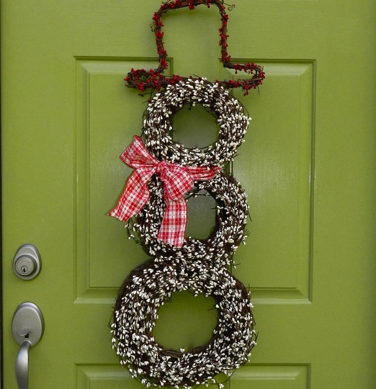 decorar puertas navidad diseno munecos originales ideas