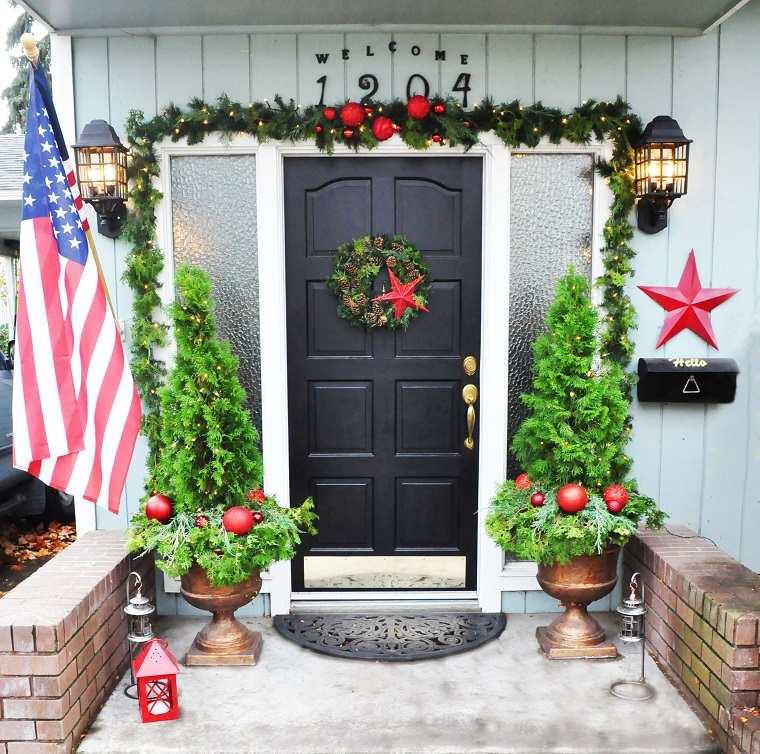 decorar puertas navidad diseno opsiones inspiradoras ideas
