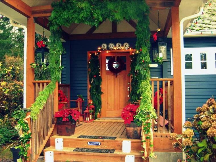 decorar puertas navidad opciones entrada casa ideas