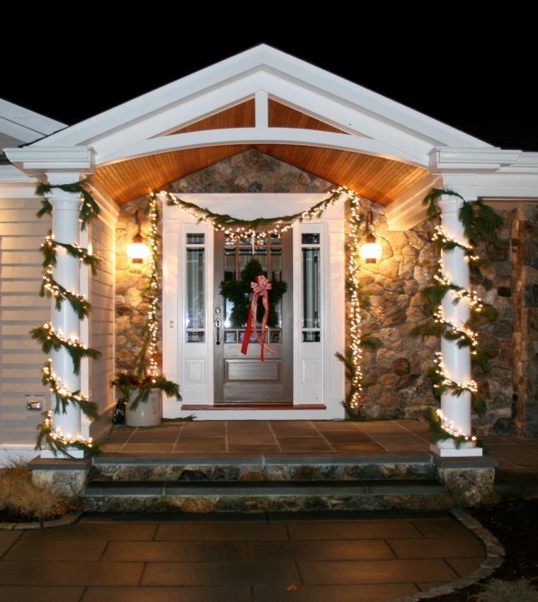 decorar puertas navidad opciones estrella guirnalda ideas