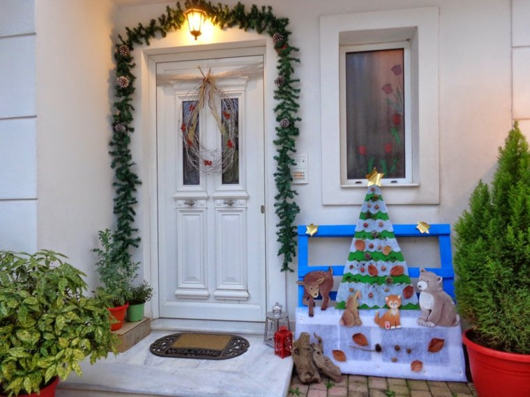 decorar puertas navidad opciones originales ideas