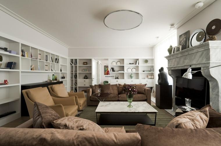 decorar salon alargado diseno fusion estilos opciones ideas