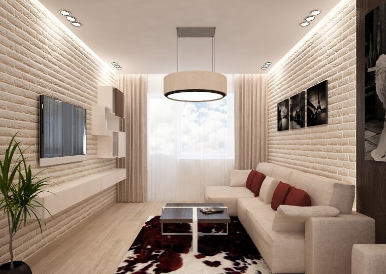 decorar salon alargado diseno habitaciones blanco ideas - Decorar Salon Alargado