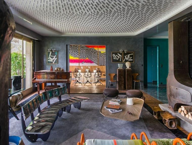 decorar salon alargado diseno muebles diseno inesperado ideas