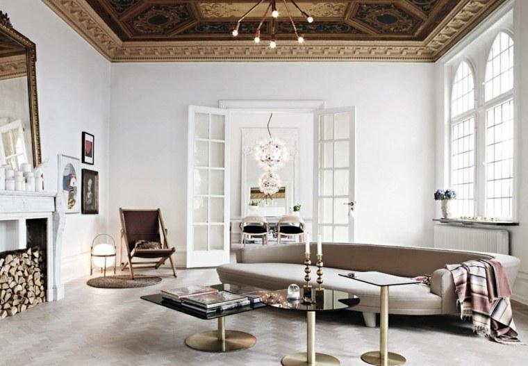 decorar salon alargado diseno sofa mesas diseno ideas