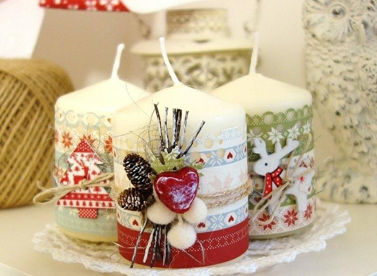 decorar velas adornos