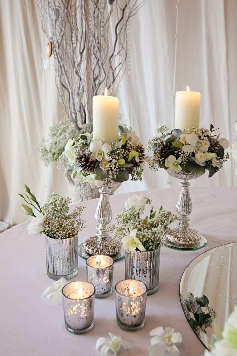 detalles bellos decorar mesa boda invierno ideas