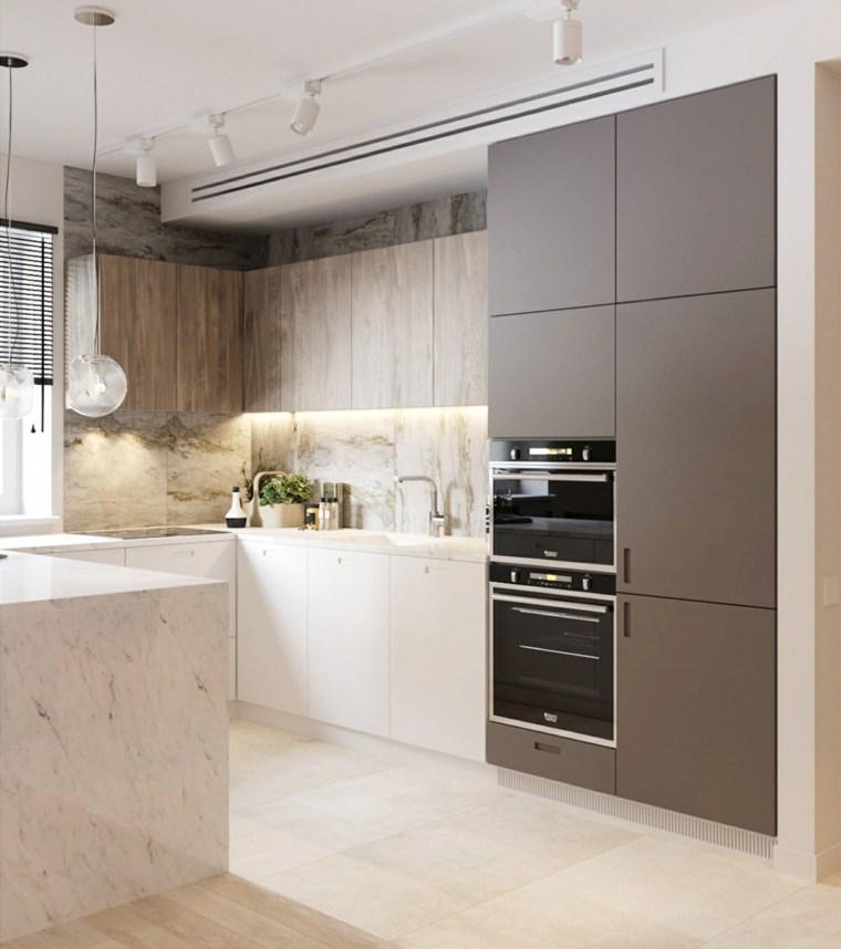Mármol en la cocina - visita estos 34 diseños de lujo -