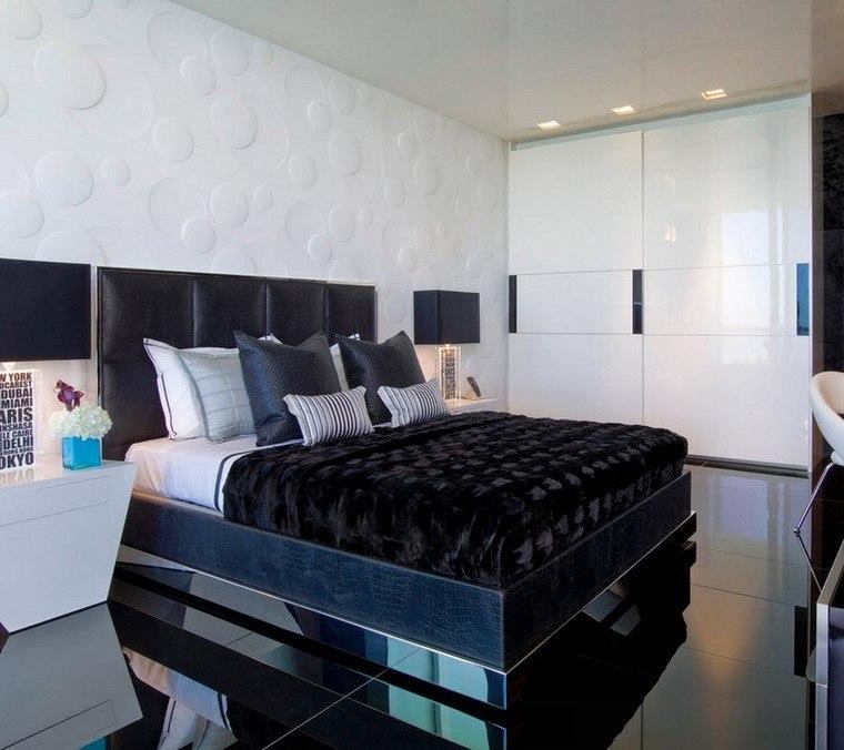 Decorar dormitorio en blanco y negro muy elegante for Opciones para decorar un cuarto