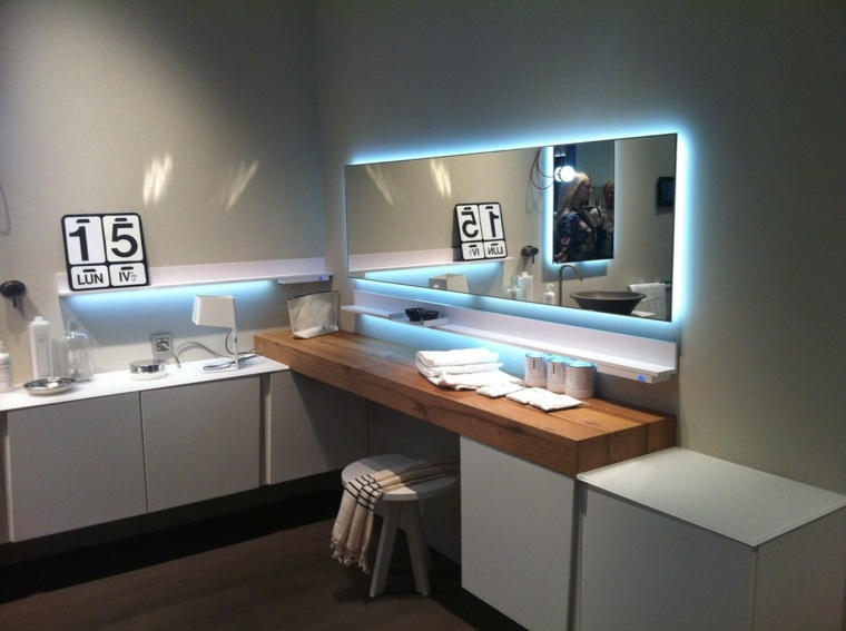 Dise o de ba os con iluminaci n escondida - Espejo bano con luz integrada ...
