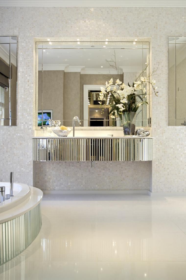 diseno de banos opciones lavabo lujoso iluminado ideas
