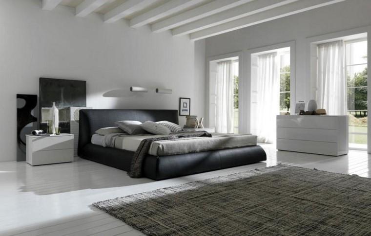 diseno elegante dormitorio paredes blancas ideas