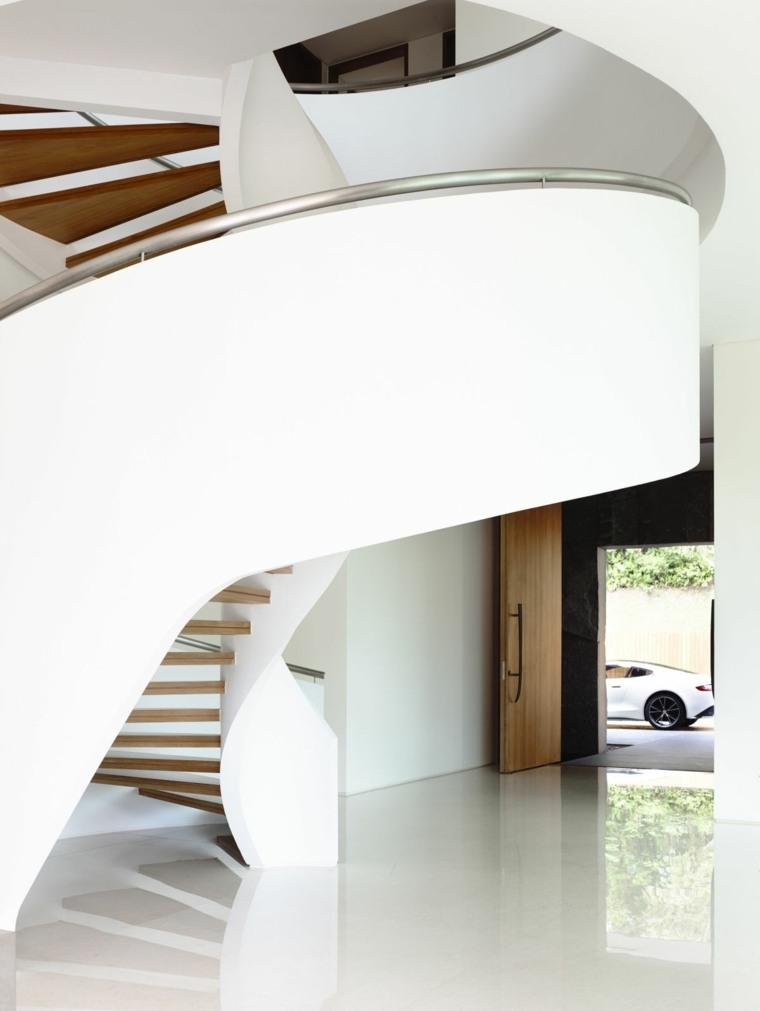 diseño escalera caracol moderna