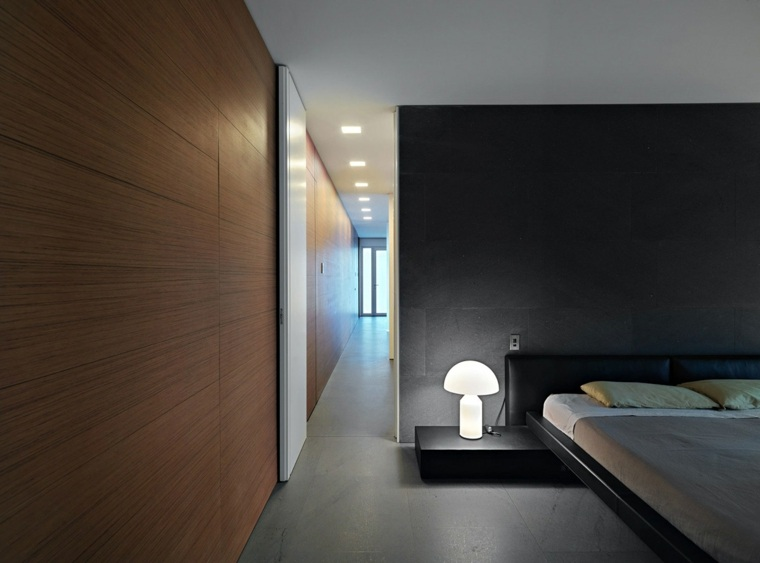 diseño habitacion estilo minimalista oscura