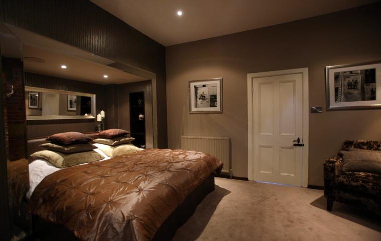 diseno habitacion moderna tonos marron