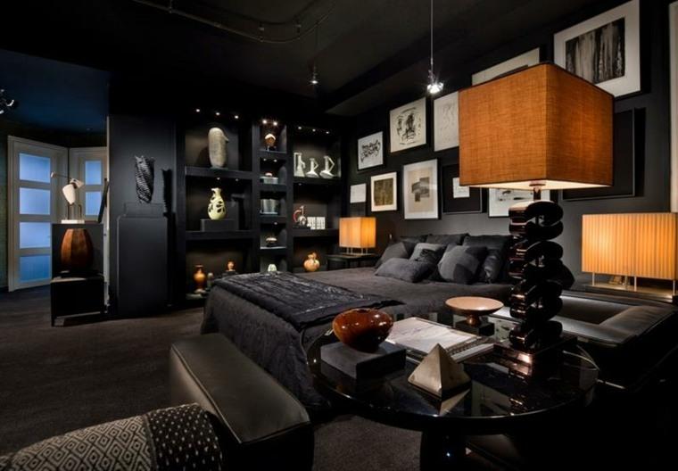 diseño moderno habitacion oscura