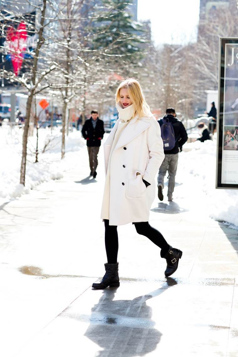 diseno ropa embrazadas blanco moderno abrigo ideas
